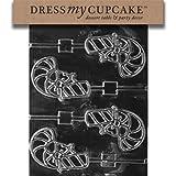 Dress My Cupcake DMCC142 Chocolate Candy Mold Candy Cane Lollipop Christmas