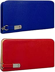 Awesome Fashions Women's Clutch / Wallet Blue And Red