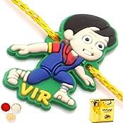 Kids Rakhi -Vir The Robot Boy Rakhi With Chocolate Box