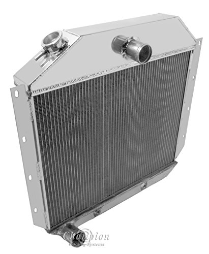 3 Row Radiator, All Aluminum & 16″ Fan for 1951-1957 International Harvester Truck. Radiator Manufactured by Champion Cooling Systems, Part#5157.
