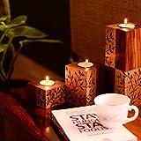 ExclusiveLane Standing Table Tea-Light Holders With Elegant Floral Design - Home Décor / Tea Lights / Light /...