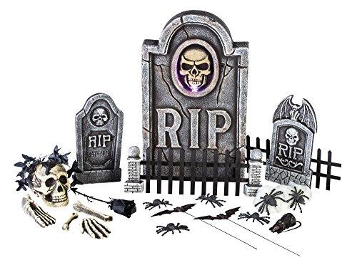 Morbid Enterprises Boneyard 25 Pieces Graveyard Kit Halloween Decor, Multi, One Size