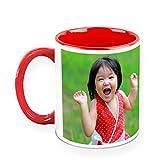 HomeSoGood A Cheerful Baby Girl White Ceramic Coffee Mug - 325 Ml