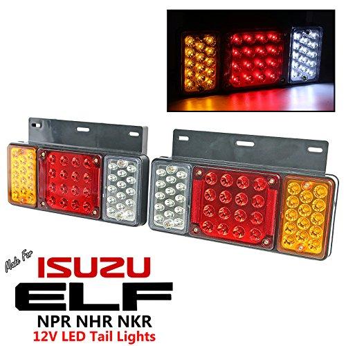 1 Pair Left + Right 12V LED Rear Tail Light Fit Isuzu Elf Truck NPR NKR NHR NLR 84++