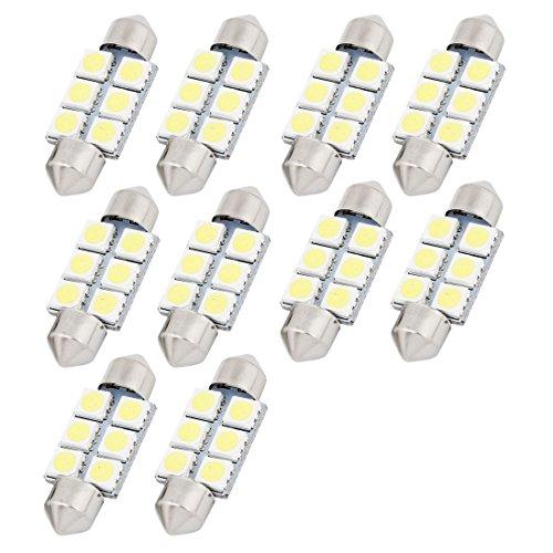 uxcell® 10 White 36MM 5050 6SMD Festoon Interior LED Light