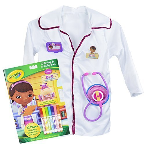 Disney Doc McStuffins Doctors Coat with Accessories and Crayola Coloring Book