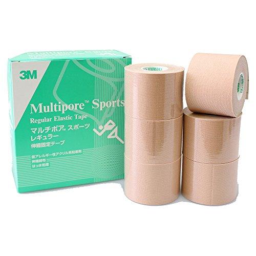 スリーエム マルチポア スポーツ レギュラー 伸縮固定テープ 50mm x 5M 6巻入り 274350