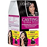 L'Oreal Paris Casting Creme Gloss Hair Color, 3 Darkest Brown, 159.5g With Free Salon Cape (Worth Rupees 299)