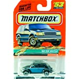 1998 Mattel Matchbox #53 Of 100 Vehicles 62 Vw Beetle Black & Blue Beach Edition Series 11 New Out Of Production...
