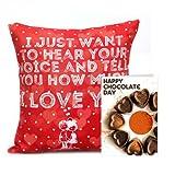 Chocolaty Love Gift Combo GIFTS110265 Romantic Valentine Gift,Valentine Gift For Him,Valentine Gift For Her,Valentine...