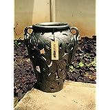 The Garden Store Pot With Two Handles - Metallic Grey