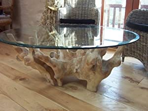 Saturday Kitchen Teak Root Wooden Coffee table, with 120cm ...