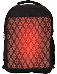 """Snoogg Abstract Red Pattern Casual Laptop Backpak Fits All 15 - 15.6"""" Inch Laptops"""