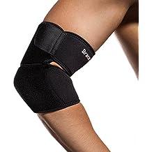 BraceUP Adjustable Elbow Support, One Size Adjustable (Black)