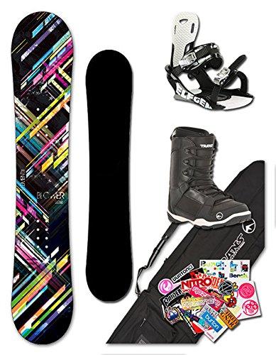 BLOWER Junior Snowboard ELEMENT Kids 115 cm + Bindung + Boots + Bag + Sticker