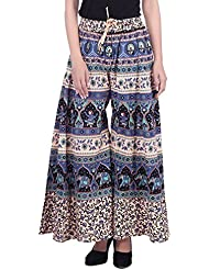 PMS Pure Cotton Woman's Palazzo (Assorted Design In Black And White )