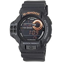 Casio Men's GDF100-1B G-Shock Twin Sensor Multi-Functional Black Resin Digital Sport Watch