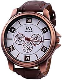 Watch Me White Men Genuine Leather Swiss Wrist Watch Watch Me-0032-Wx