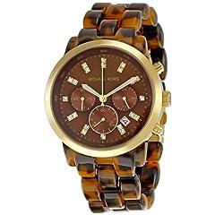 Michael Kors Womens MK5216 Chronograph Tortoise Watch