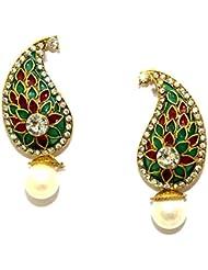 La Trendz Golden Alloy Drop Earrings