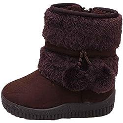 WinterWinter Kinder Baby Jungen Mädchen Stiefel Schneestiefel Covermason Warm Schuhe (21 (1-2 Jahre alt), Kaffee)
