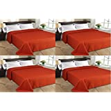 MSE Set Of 4 Home Collection Premium Quality Double Bed AC Bedspread Blanket - B06WVBP5M3