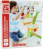 Hape - Early Melodies - Rock and Rhythm Band Wooden Drum Set