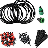 Rrimin 5M Micro-sprinklers Spray Water Iggigation Kit Set Micro Drip Automatic Plant Garden Watering System