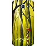 For Samsung Galaxy A8 (2016) Beautiful Little Girl ( Beautiful Little Girl, Little Girl, Tree, Jungle, Water, Red Umbrella, Umbrella ) Printed Designer Back Case Cover By FashionCops