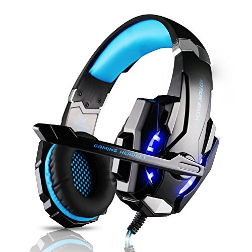DIZA100 Kotion Each G9000 Gaming Headset Headphone 3.5mm Stereo Jack With Mic LED Light For PS4/Tablet/Laptop/...