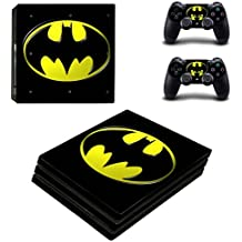 Elton Batmna Logo (Black & Yellow) Theme 3M Skin Sticker Cover For PS4 Pro Console And Controllers