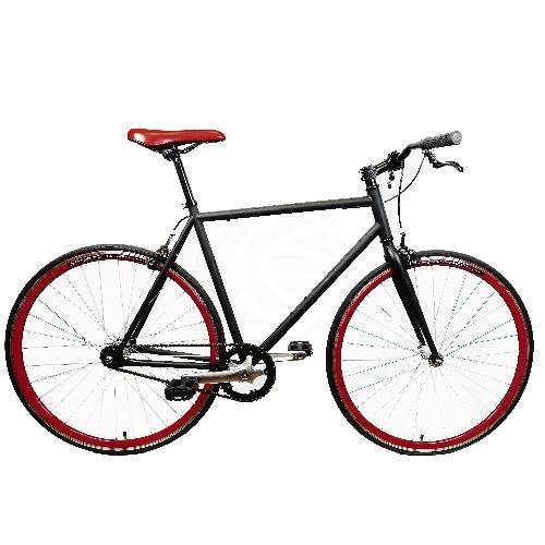 Bicicleta fixie negra talla M para altura 160-175cm