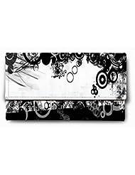 Sleep Nature's Beautiful Black And White Printed Ladies Wallet
