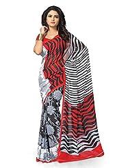 Vaamsi Georgette Printed Saree (Vaio2015_Multi-Coloured)
