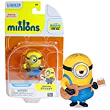 Thinkway Toys Year 2015 Minions Movie Exclusive Series 2 Inch Tall Figure - Minion STUART with Ukulele