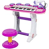 Best Choice Products Musical Kids Electronic Keyboard 37 Key Piano W/ Microphone, Synthesizer, Stool, Records... - B015EV2LW4