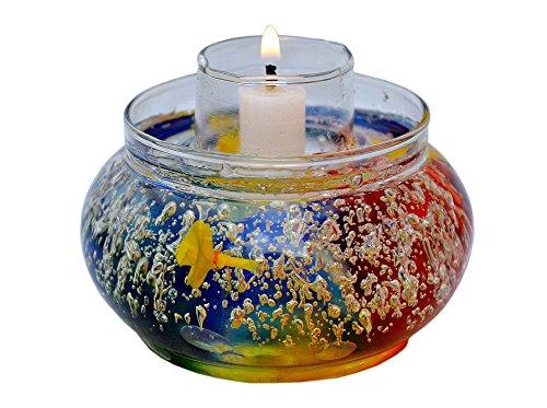 My Art Glass Permanent Aroma Candle Holder (7cm X 15 Cm X 5 Cm)