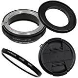 Fotodiox M-Reverse-67-Nikon-Kit RB2A 67MM Macro Reverse Ring Kit With G And DX Type Lens Aperture Control, 52MM Lens Cap And 52MM UV Protector Fits Nikon