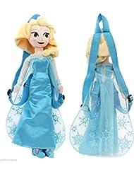 "Disney's Frozen Plush Elsa Backpack 17"" With Adjustable Straps"