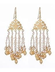 Amethyst By Rahul Popli White Gold Plated Dangle & Drop Earrings - B00OYSBQG6
