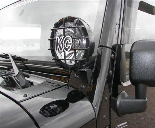 KC HiLiTES 7316 2007-2014 Jeep Wrangler JK Windshield Hinge Light Mount Brackets – Set of 2″