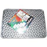 Kuber Industries Refrigerator Drawer Mat / Fridge Mat Set Of 6 Pcs (Grey)