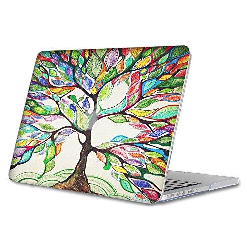 Fintie Coque MacBook Air 13 - Haute Qualité Plastique Transparent Dur étui Housse pour Apple MacBook Air 13.3 Pouces (A1466 / A1369) , Love Tree