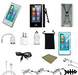 "Apple Ipod Accessories – Accessories Bundles Plusmore ® 13-item Accessory Bundle for the Newest Apple Ipod ""Nano 7th Gen"" Earphones 3 Case + More"