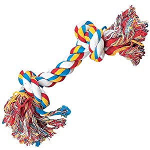 Pet Supplies : Pet Chew Toys : Zanies Cotton Knotted Rope