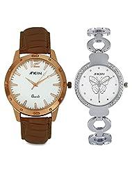 Atkin 2 Watch Couple's Combo (AT-188)