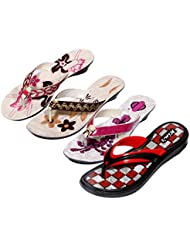 Krocs Super Comfortable Combo Pack Of 3 Pair Flip Flop With 1 Pair Slippers For Women (Pack Of 4 Pair) - B01JSEJSM4