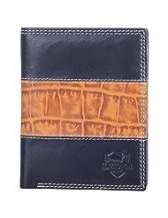 Leder Mart 2206 Men's Wallet (Black & Grey, FL007)