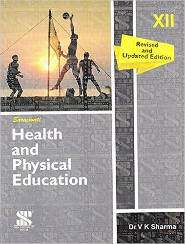 Health and Physical Education Class 12 -Book 2017 Edition- V K Sharma