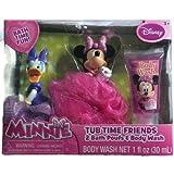 Disney Minnie Tub Time Friends 3 Pcs Bath Gift Set- Includes 2 Bath Poufs & Body Wash Cotton Candy Scented. Disney...